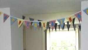 Smiley Planet Banner in house - lightened