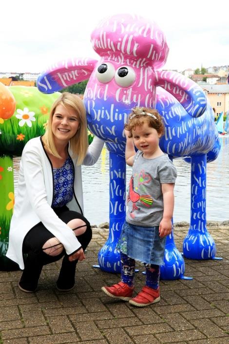 Artist Cassie Debry with Sennen Gayford