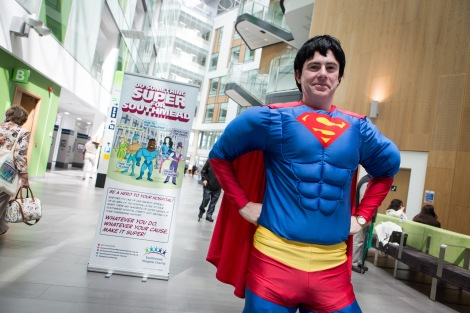 Do Something Super for Southmead event at Southmead Hospital, Bristol. Adrian Brown - Southmead Hospital Charity; Monday 22nd June 2015; ©Barbara Evripidou2015; m: 07879443963; barbara@firstavenuephotography.com