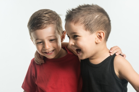 2 boys laughing bbevren Shutterstock