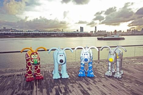 Gromit sculptures in Hong Kong