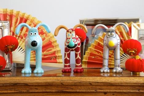 Hong Kong Gromit figurines