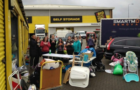 Volunteers for Baby Bank Network at Bristol Big Yellow Storage Unit