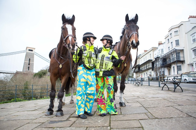 The Wrong Trousers: Mounted Police, Clifton, Bristol. PC Vicki Ephgrave with Redland and PC Trudi Gunn with Sedgemoor. ©Barbara Evripidou2016; m: 07879443963; barbara@firstavenuephotography.com