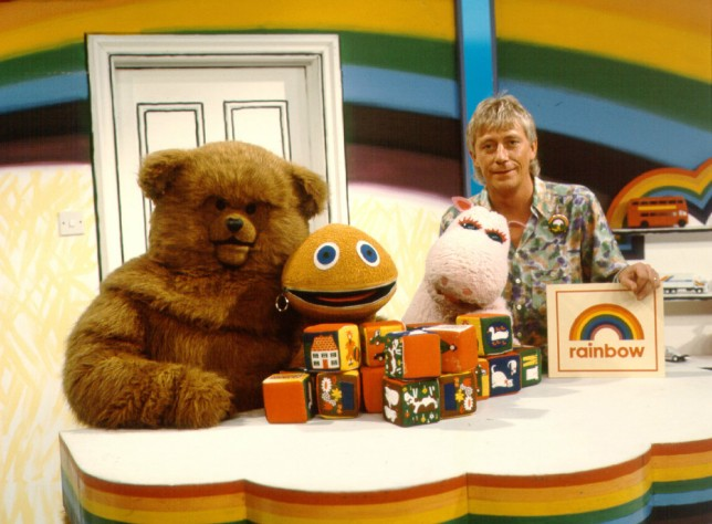 Editorial Use Only / No Merchandising Mandatory Credit: Photo by FremantleMedia Ltd/REX (854357ho) 'Rainbow' - Bungle, George, Zippy and Geoffrey Hayes Thames TV