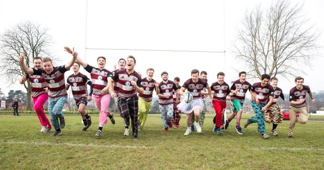 Wrong Trousers Day -Bristol University Medics Rugby team. ©Barbara Evripidou2016; m: 07879443963; barbara@firstavenuephotography.com