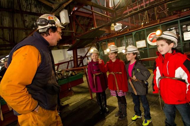 Big Pit National Coal Museum NCM/MC/1 ; 2, Children visiting; 21/2/12; Model Release 24