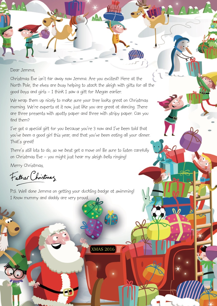 letters from father christmas letters from to children in bristol with 13909